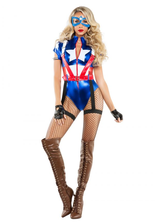 Fantasia feminino de capitã América Sexy – Women's Captain USA Costume