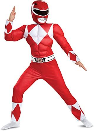 Fantasia infantil Power Ranger vermelho – Red Power Ranger Children's Costume