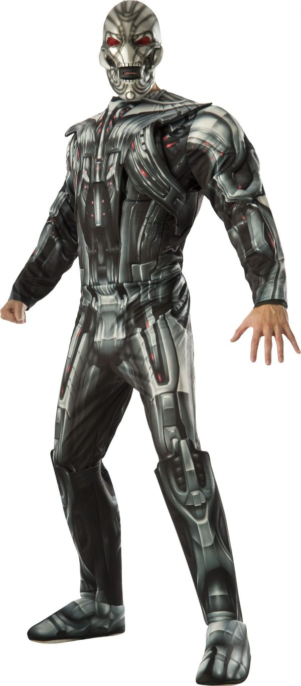 Fantasia masculina de luxo Ultron para adultos – Adult Avengers Ultron Deluxe Men Costume