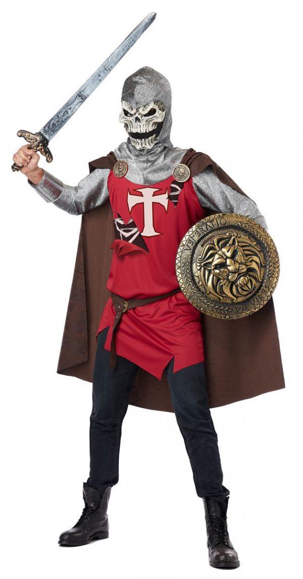 Fantasia masculino de cavaleiro caveira adulto – Adult Skull Knight Mens Halloween Costume