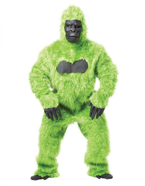Fantasia masculino de gorila verde – Men's Green Gorilla Costume
