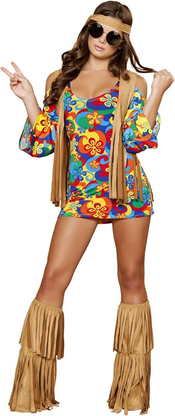Fantasia sexy de hippie – Sexy hippie costume