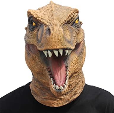 Máscara Jurassic t-rex Head para o Halloween -Jurassic t-rex Head mask for Halloween