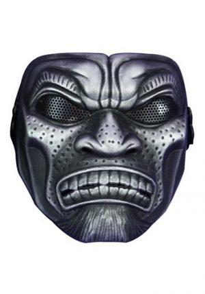 Máscara de guerreiro samurai – Adult Silver-Samurai