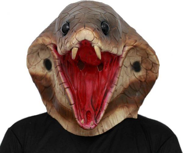 Máscara de látex cabeça de Cobra – Snake head latex mask