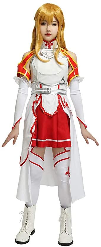 fantasia Asuna Yuuki para mulheres Cosplay – Asuna Yuuki costume for women Cosplay