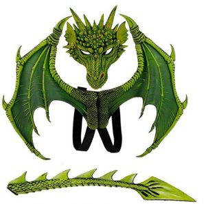 Fantasia de Dragão com asas e Mascara – Dragon costume with wings and mask