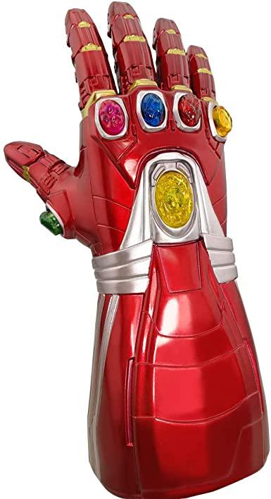 Luva de LED para adultos Luvas de PVC com punho eletrônico de homem de ferro – Adult LED Glove PVC Gloves with Iron Man Electronic Wrist
