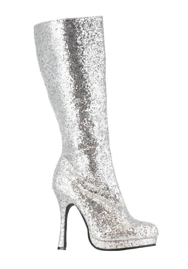 Botas de brilho prateado – Silver Glitter Boots