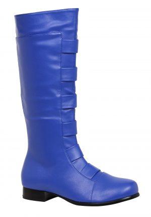Botas de super-herói azuis adultas – Adult Blue Superhero Boots