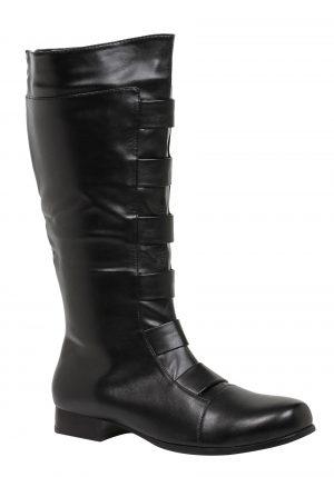 Botas de super-herói pretas para adultos – Adult Black Superhero Boots