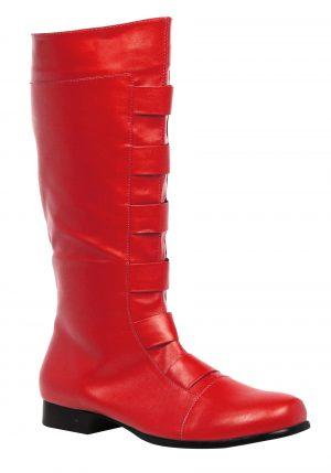 Botas de super-heróis vermelhas para adultos – Adult Red Superhero Boots