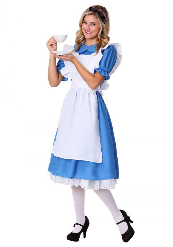 Fantasia Alice no Pais das maravilhas Deluxe para Adultos – Adult Deluxe Alice Costume