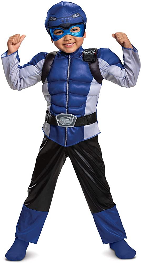 Fantasia Blue Ranger Beast Morphers – Disguise Blue Ranger Beast Morphers Toddler Muscle Costume