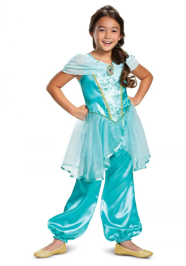 Fantasia Clássico Aladdin Girls Jasmine – Aladdin Girls Jasmine Classic Costume