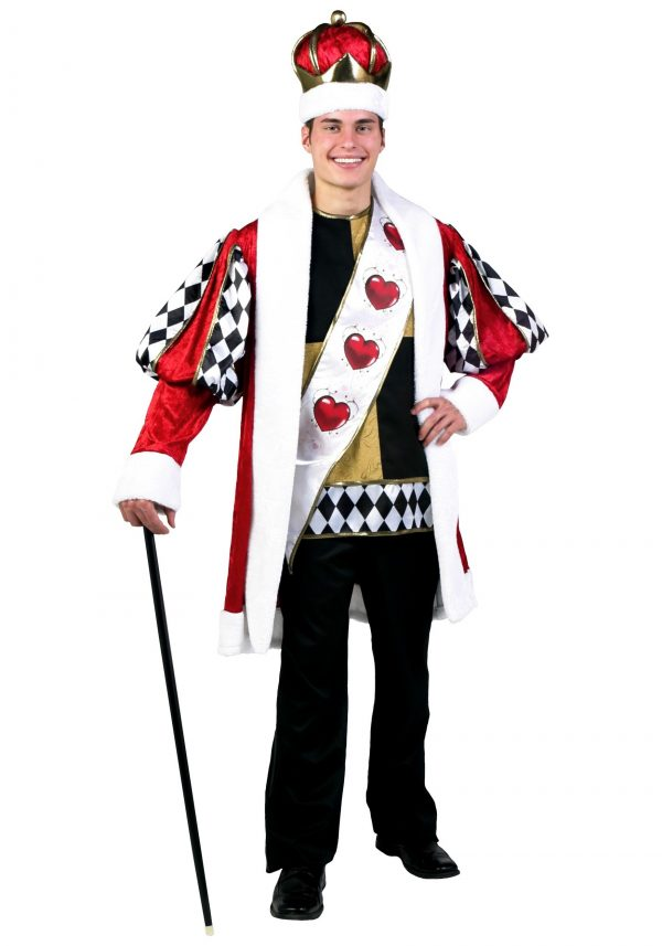 Fantasia Deluxe Rei dos corações – Deluxe King of Hearts Costume