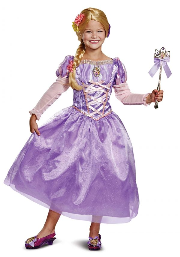 Fantasia Deluxe Tangled Rapunzel para crianças – Tangled Rapunzel Deluxe Costume for Kids