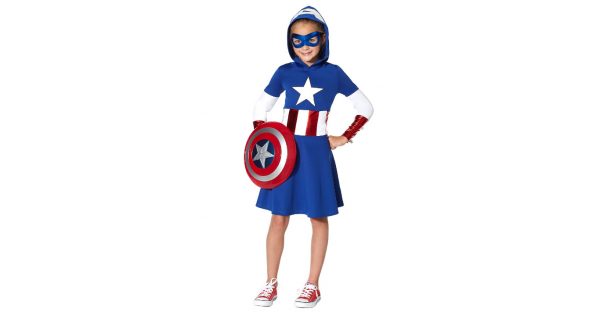 Fantasia Kids Captain America Marvel – Kids Captain America Dress Marvel