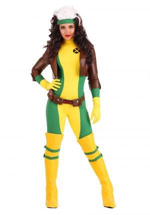 Fantasia  Premium X-Men feminino de Rogue – X-Men Women's Rogue Premium Costume