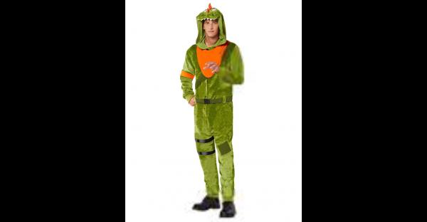 Fantasia adulto de pelúcia Rex Fortnite – Adult Plush Rex Costume Fortnite