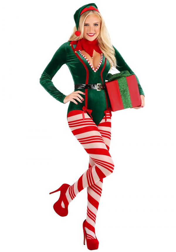 Fantasia de Ajudante do Papai noel  Sexy Feminino -Women's Sexy Santa Elf Costume