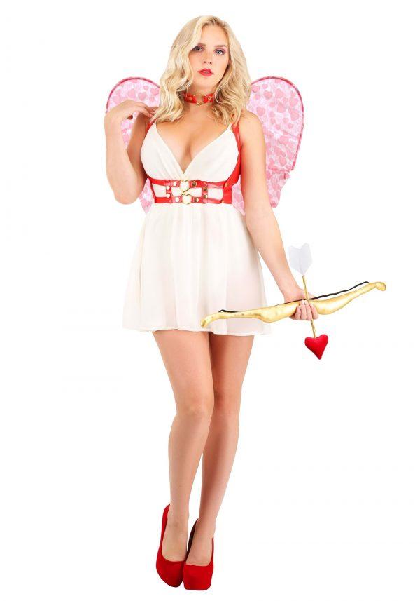 Fantasia de Cupido Carmesim Feminino – Crimson Cupid Women's Costume