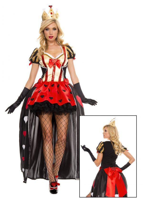 Fantasia de Lantejoulas Rainha de Copas – Luxurious Sequin Queen of Hearts Costume