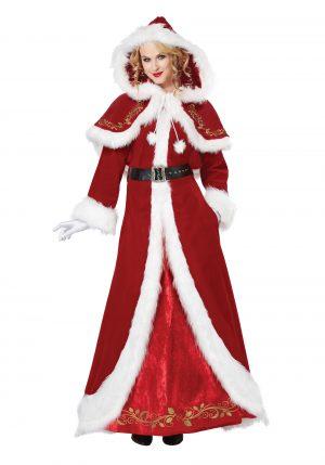 Fantasia de Luxo Mamãe Noel -Deluxe Classic Mrs. Claus Costume