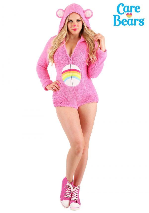 Fantasia de Macacão Ursinhos Carinhosos, Ursinha Animadinha – Woman's Cheer Bear Romper Costume