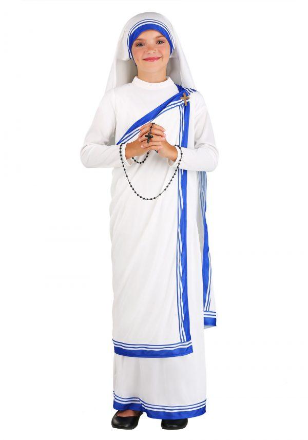 Fantasia de Madre Teresa para meninas -Girls Mother Teresa Costume