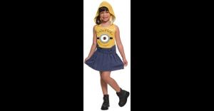 Fantasia de Minions com Capuz Infantil – Kids Hooded Minions Costume