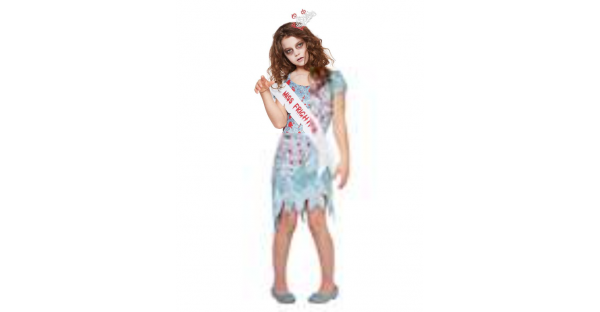 Fantasia de Miss Assustadora para Crianças – Kids Miss Frightful Costume