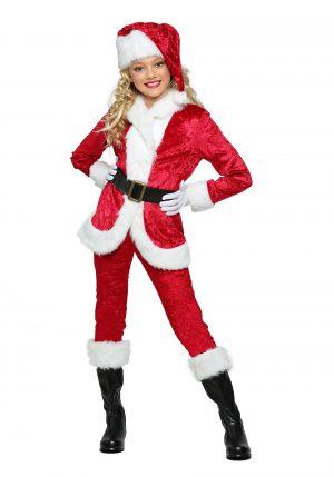 Fantasia de Papai Noel para Meninas- Girl's Sweet Santa Costume