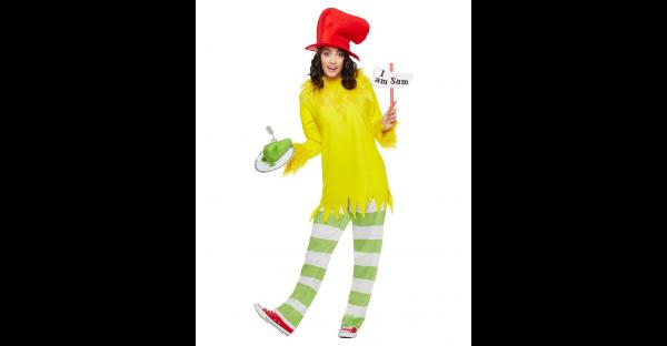 Fantasia de Sam I Am adulto Dr. Seuss – Adult Sam I Am Costume Dr. Seuss