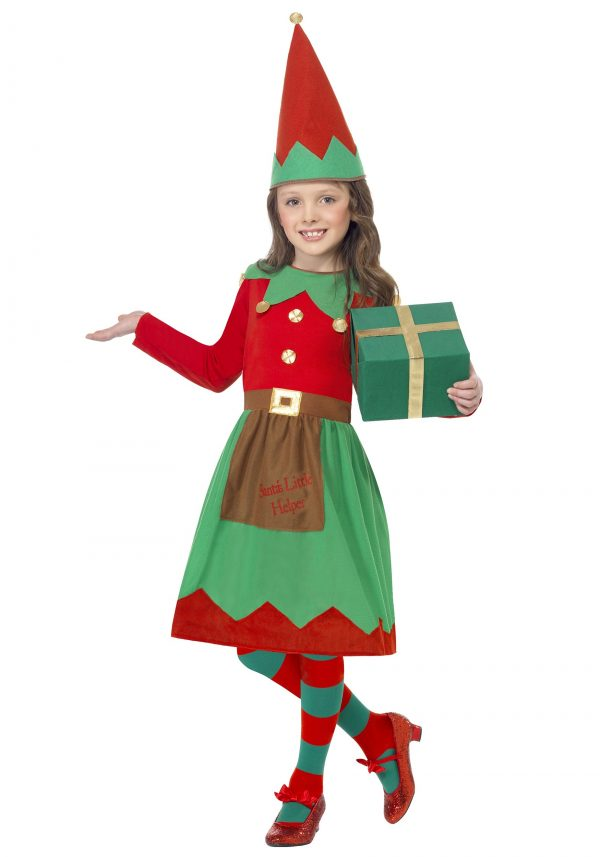 Fantasia de ajudante de Papai Noel infantil – Girls Santa's Little Helper Costume
