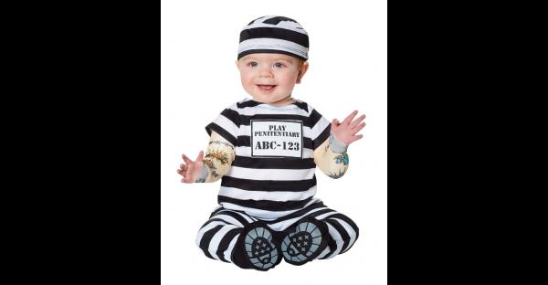 Fantasia de bebê prisioneiro – Baby Prisoner Costume