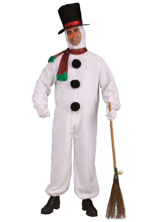 Fantasia de boneco de neve macia adulto – Adult Soft Snowman Costume