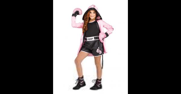 Fantasia de boxeadora infantil resistente – Kids Tough Girl Boxer Costume