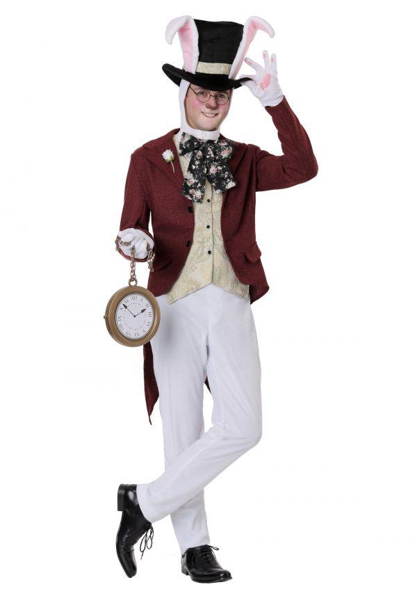 Fantasia de coelho branco Alice no Pais das Maravilhas – Men's White Rabbit Costume