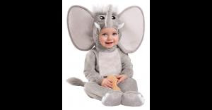 Fantasia de elefante de bebê – Baby Faux Fur Lil' Elephant Costume