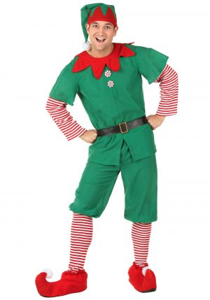 Fantasia de elfo adulto Masculino – Holiday Adult Elf Costume