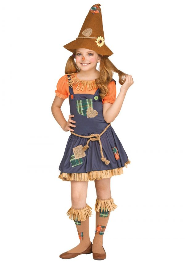 Fantasia de espantalho doce para meninas – Sweet Scarecrow Girl's Costume