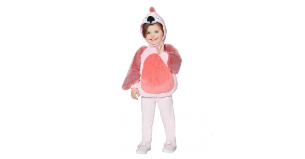Fantasia de flamingo  para bebê – Baby Faux Fur Flamingo Costume