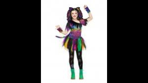 Fantasia de gato arco-íris selvagem infantil – Kids Wild Rainbow Cat Costume