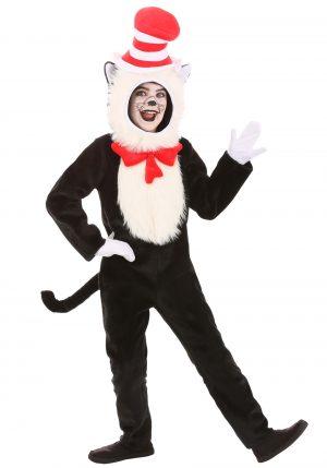 Fantasia de gato com chapéu premium para crianças – Premium Cat in the Hat Costume for Kids