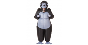 Fantasia de gorila inflável adulto – Adult Inflatable Gorilla Costume