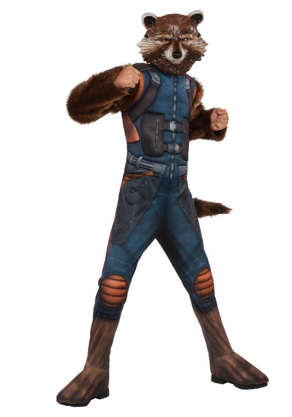 Fantasia de guaxinim-foguete deluxe para crianças – Deluxe Rocket Raccoon Costume for Kids
