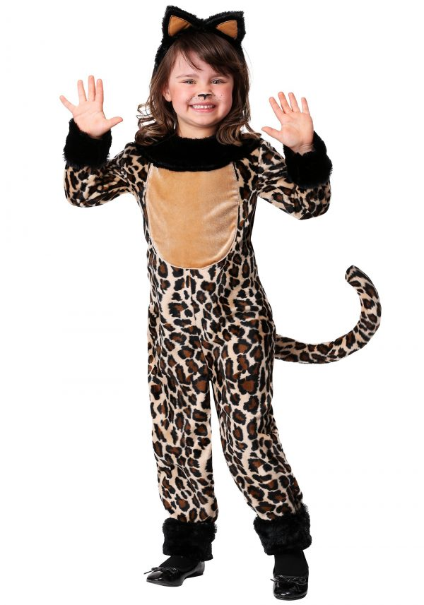 Fantasia de leopardo feminino INFANTIL – Girls Deluxe Leopard Costume