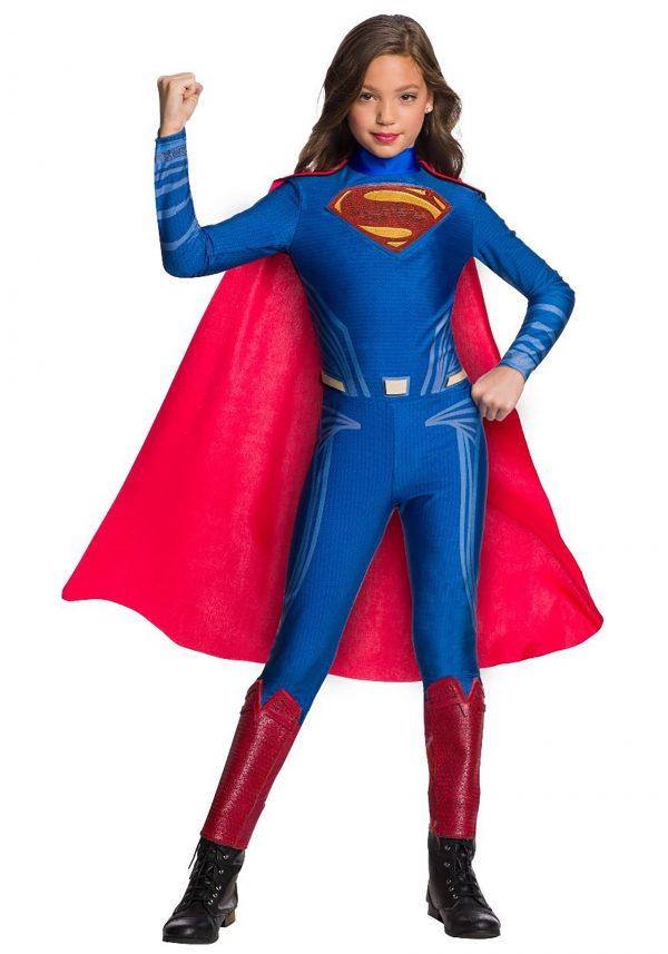 Fantasia de macacão DC Superman para meninas – DC Superman Jumpsuit Costume for Girls