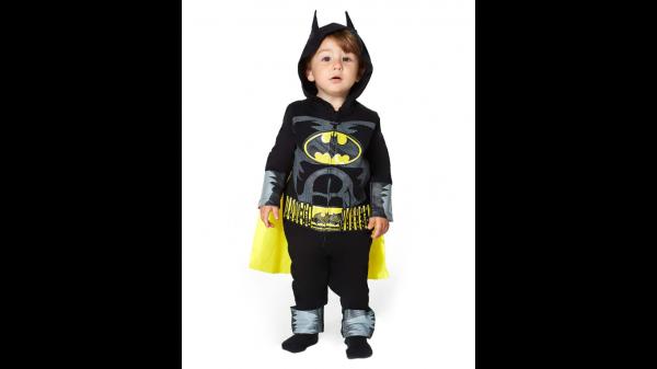 Fantasia de macacão de Batman bebê DC Comics – Baby Batman Coverall Costume – DC Comics